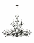 ELK Crystal Branches 12 Light Chandelier in Burnt Bronze EK-11777-8-4