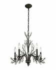 ELK Crystal Branches 5 Light Chandelier in Burnt Bronze EK-11775-5