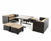 Cube Outdoor Dining Set in Contemporary Style 44P217-SET