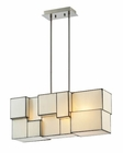 ELK Cubist Collection 4 Light Chandelier in Brushed Nickel EK-72063-4