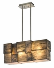 ELK Cubist Collection 4 Light Chandelier in Brushed Nickel EK-72073-4