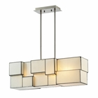 ELK Cubist Collection 4 Light Chandelier in Brushed Nickel - Led EK-72063-4-LED