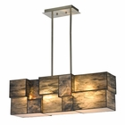 ELK Cubist Collection 4 Light Chandelier in Brushed Nickel - Led EK-72073-4-LED