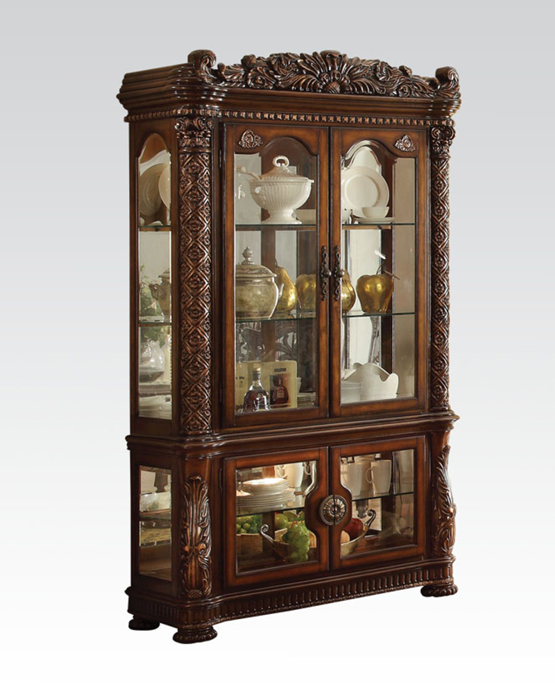 Curio Cabinet Vendome Cherry By Acme Furniture Ac62023