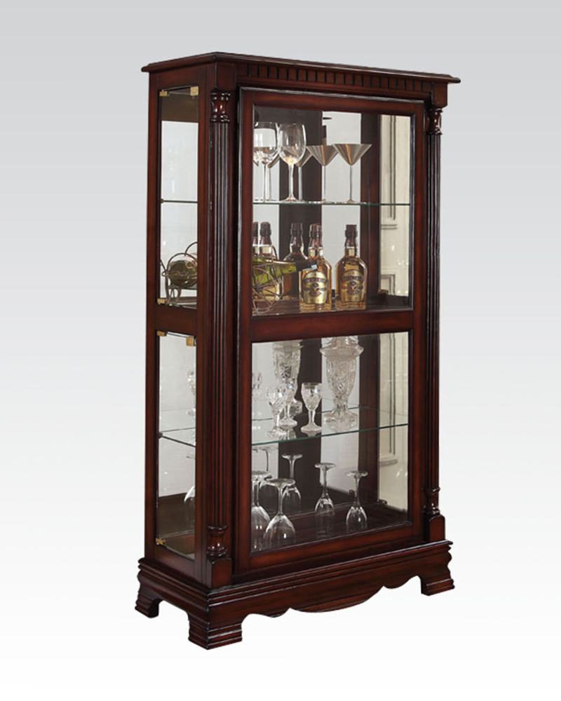 Curio cabinet w 4 side doors by acme furniture ac90066 for Acme kitchen cabinets