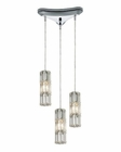 ELK Cynthia Collection 3 Light Chandelier in Polished Chrome EK-31486-3