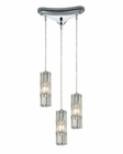 ELK Cynthia Collection 3 Light Chandelier in Polished Chrome EK-31487-3