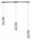 ELK Cynthia Collection 3 Light Chandelier in Polished Chrome EK-31487-3L