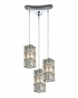 ELK Cynthia Collection 3 Light Chandelier in Polished Chrome EK-31488-3
