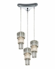 ELK Cynthia Collection 3 Light Chandelier in Polished Chrome EK-31489-3