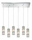 ELK Cynthia Collection 6 Light Chandelier in Polished Chrome EK-31486-6RC