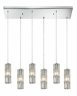 ELK Cynthia Collection 6 Light Chandelier in Polished Chrome EK-31487-6RC