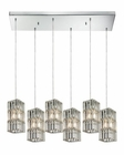 ELK Cynthia Collection 6 Light Chandelier in Polished Chrome EK-31488-6RC