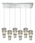 ELK Cynthia Collection 6 Light Chandelier in Polished Chrome EK-31489-6RC
