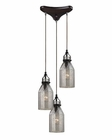ELK Danica  Collection 3 Light Chandelier in Oil Rubbed Bronze EK-46009-3