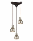 ELK Danica  Collection 3 Light Chandelier in Oil Rubbed Bronze EK-46023-3