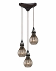 ELK Danica  Collection 3 Light Chandelier in Oil Rubbed Bronze EK-46024-3