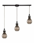 ELK Danica  Collection 3 Light Chandelier in Oil Rubbed Bronze EK-46024-3L