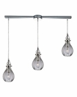 ELK Danica  Collection 3 Light Chandelier in Polished Chrome EK-46014-3L