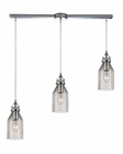 ELK Danica  Collection 3 Light Chandelier in Polished Chrome EK-46019-3L