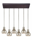 ELK Danica  Collection 6 Light Chandelier in Oil Rubbed Bronze EK-46023-6RC