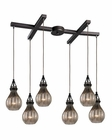 ELK Danica  Collection 6 Light Chandelier in Oil Rubbed Bronze EK-46024-6