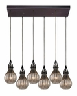 ELK Danica  Collection 6 Light Chandelier in Oil Rubbed Bronze EK-46024-6RC