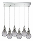 ELK Danica  Collection 6 Light Chandelier in Polished Chrome EK-46014-6RC