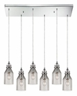 ELK Danica  Collection 6 Light Chandelier in Polished Chrome EK-46019-6RC