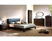 Dark Brown Bedroom Set Marta Contemporary Style Made in Spain 33B291