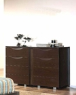 Dark Brown Dresser Marta Contemporary Style Made in Spain 33B295