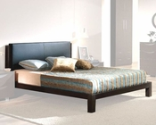 Dark Brown Platform Bed Marta Contemporary Style Made in Spain 33B292