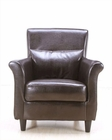 Dark Brown Tub Chair with Rolled Arms Chives MO-CHI