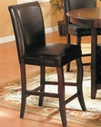 Dark Cherry / Black Pub Chair CO-100505 (Set of 2)