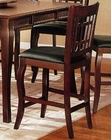 Dark Cherry / Black Pub Chair CO-100509 (Set of 2)
