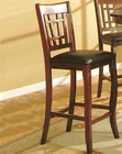 Dark cherry / Black Vinyl Bar Stool CO-100510 (Set of 2)
