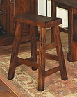 Dark Chocolate Saddle Seat Stool SU-1768DC (Set of 2)