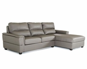 Dark Grey Eco-Leather Sofabed Sectional in Modern Style 44L5920