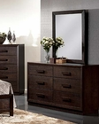 Dark Merlot Dresser w/ Mirror Ishaan by Acme Furniture AC21495DM