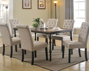 Dark Oak Dining Set Vriel by Acme Furniture AC71580SET