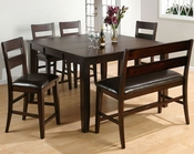 Dark Rustic Counter Height Dining Set JO-972-60s