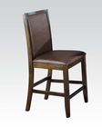 Dark Walnut Counter Height Chair Dwayne by Acme AC70757 (Set of 2)
