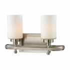 ELK Dawson Collection 2 light bath in Brushed Nickel- LED EK-11661-2-LED