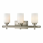 ELK Dawson Collection 3 light bath in Brushed Nickel - LED EK-11662-3-LED