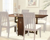 Deep Cherry Finish Dining Gate Leg Table Caress by Somerton SO-629G60