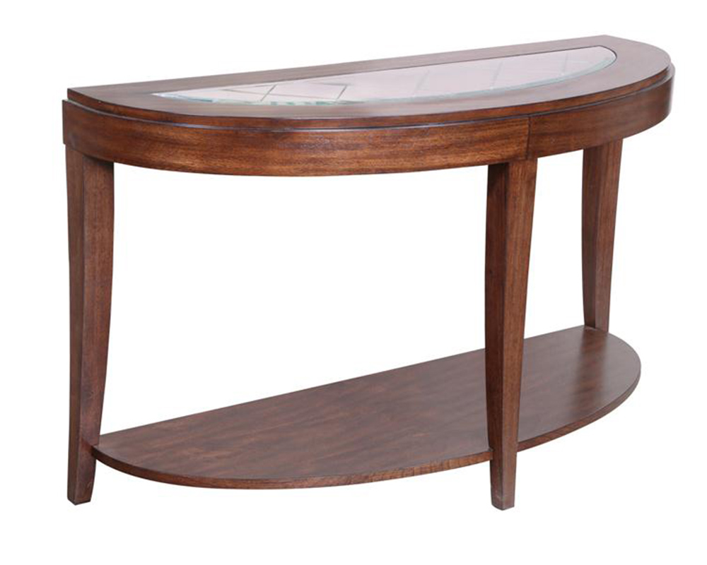 Demilune sofa table keaton by magnussen mg t2536 75 for 5 sofa table