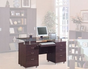 Desk with glass CO-800231