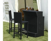 Diamante Outdoor Patio 3pc Bar Set 44P8019