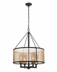 ELK Diffusion Collection 4 Light Chandelier in Oil Rubbed Bronze EK-57027-4