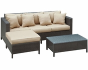 Dimension Outdoor Sofa Set in Brown Tan by Modway MY-EEI828BT
